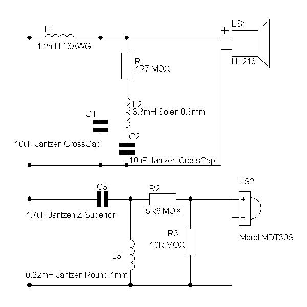 Кроссоверы фильтры схемы