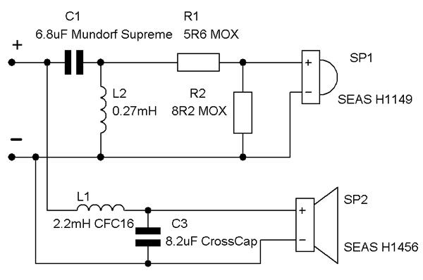 Схема активного двухполосного кроссовера.  Посты с тегом 'двухполосного' .